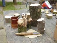 Grünholzschnitzen für Eltern mit Kindern